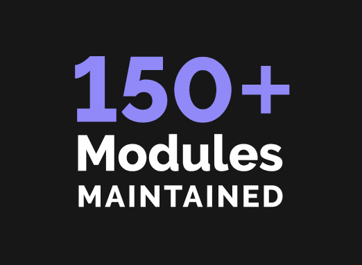 150+ Modules Maintained